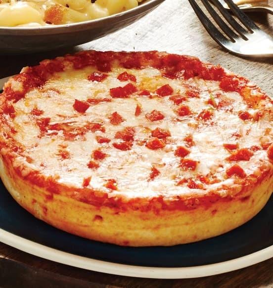 Deep Dish Pepperoni Pizza