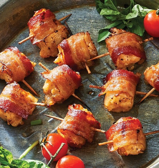 Mini Bacon Wrapped Chicken Fillets