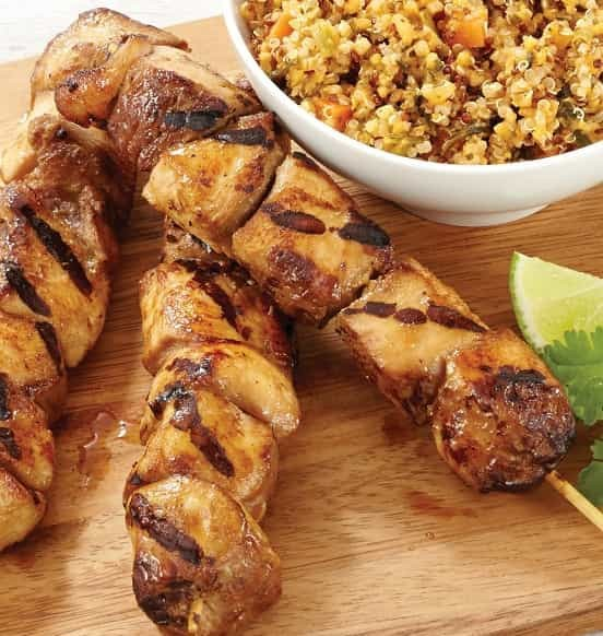 Marinated Teriyaki Chicken Kabobs