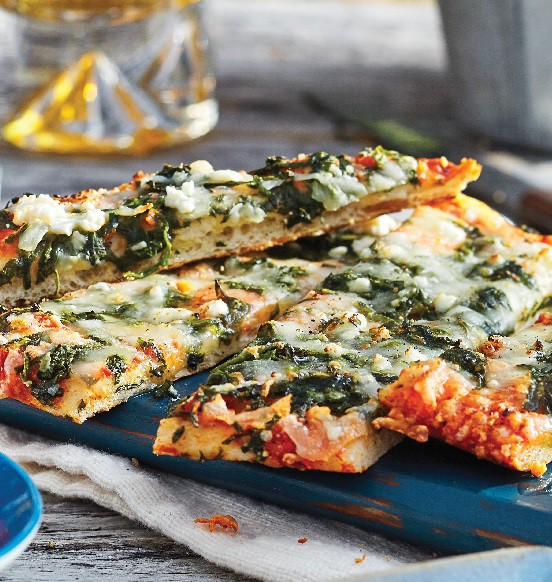 Spinach and Cheese Flatbread