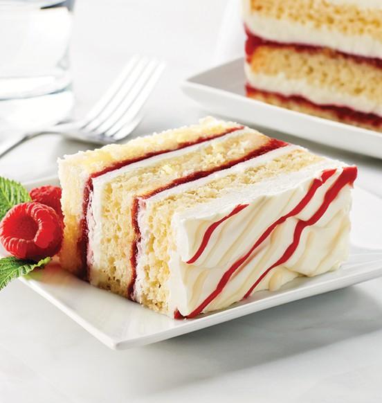 TOO TALL® White Chocolate Raspberry Cake
