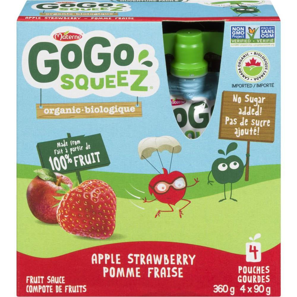 Fruit Sauce Organic Apple Strawberry