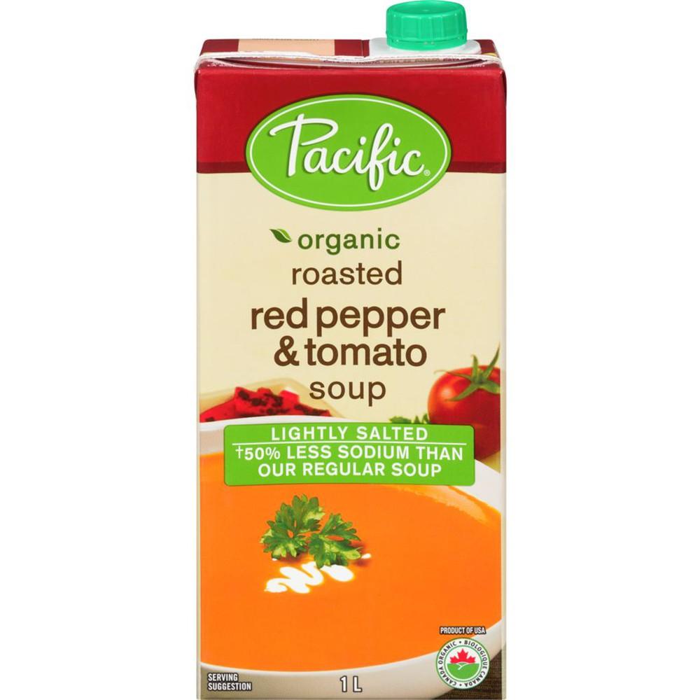 Organic red pepper & tomato soup light sodium