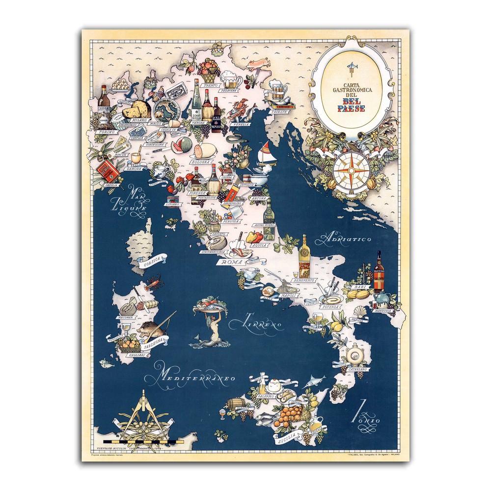 Mapa italia gastronomica