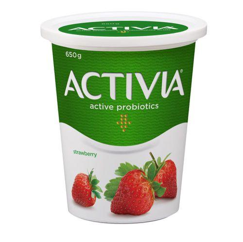 Probiotic yogurt strawberry