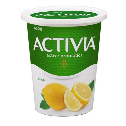 Probiotic yogurt lemon