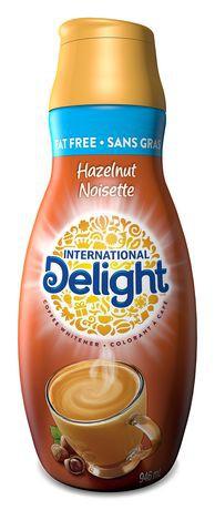 Fat Free Hazelnut Coffee Whitener