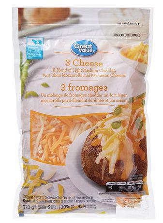 Shredded 3 cheese