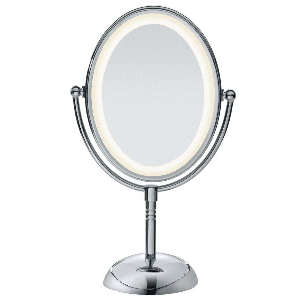Conair Polished Chrome Double-sided Mirror with LED Light