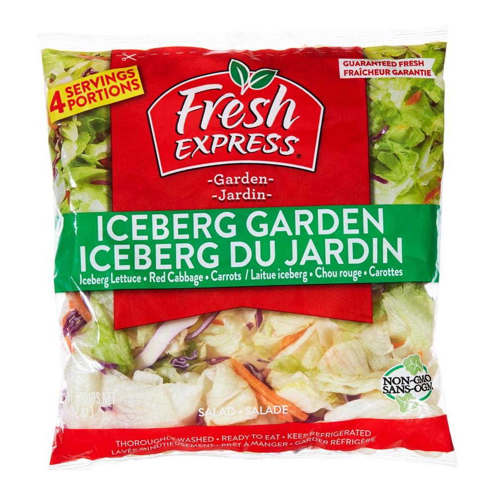 Iceberg lettuce garden salad