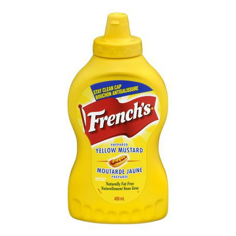 Yellow squeezable mustard