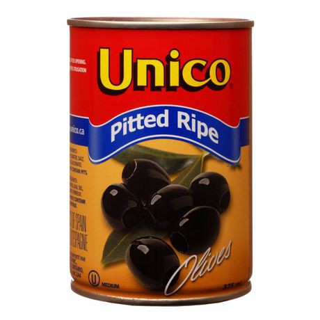 Med black pitted olives