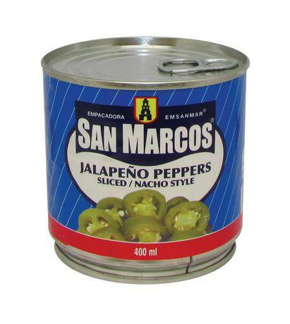 Sliced nacho style jalapeno peppers