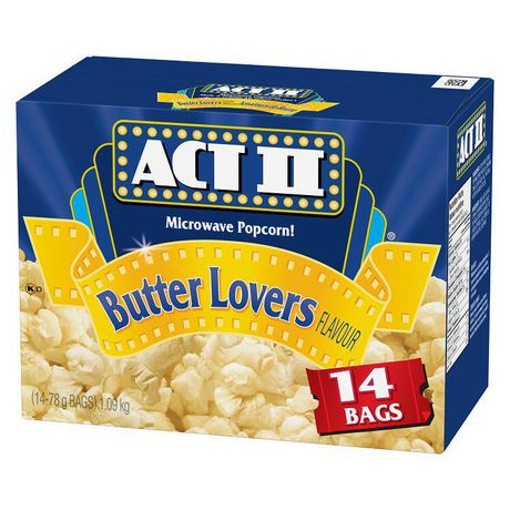 actii 14s gourmet microwave popcorn butter lovers flavour act ii 1 09 kg delivery cornershop by uber canada