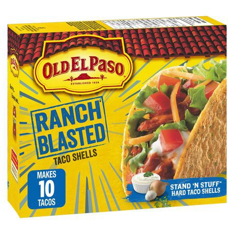 Old El Paso Gluten-Free Ranch Blasted Stand N Stuff Taco Shells Special Edition