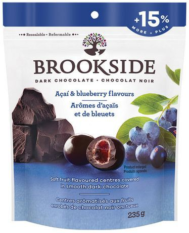 Dark chocolate, acai and blueberry flavour