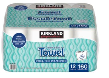 Paper towels 12 rolls