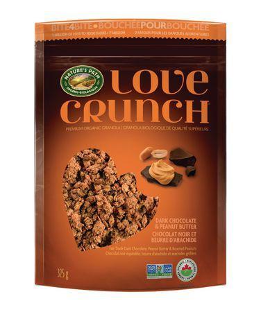 Love Crunch Dark Chocolate and Peanut Butter Premium Organic Granola 325 g