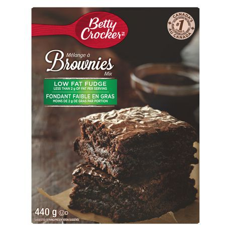 Betty Crocker Low Fat Fudge Brownies Mix Betty Crocker 440g delivery    Cornershop by Uber - Canada