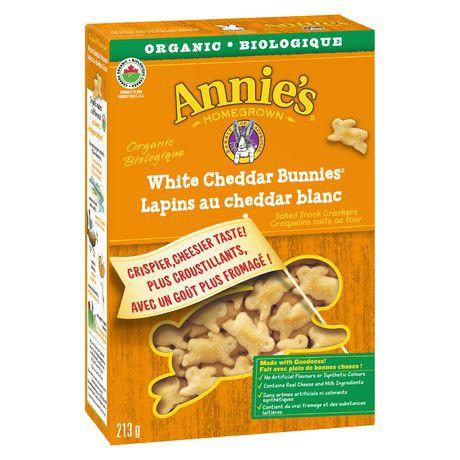 Organic white cheddar bunnies crackers