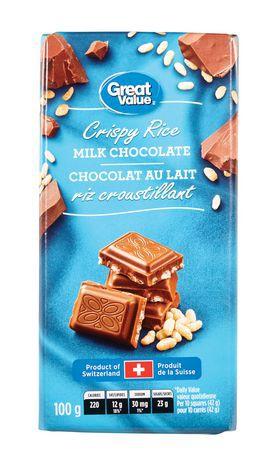 Crispy rice milk chocolate bar