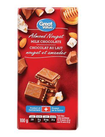 Great Value Almond Nougat Milk Chocolate