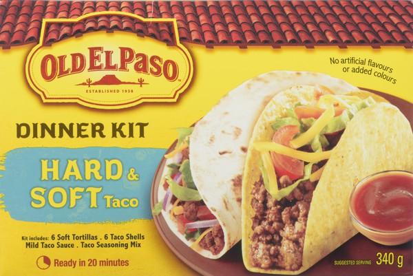 Hard and soft taco dinner kit