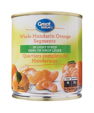 Great Value Whole Mandarin Orange Segments