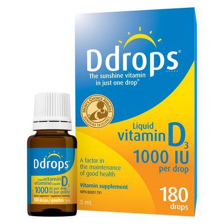 Liquid vitamin D3 1000 IU