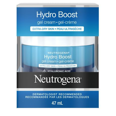 Facial gel cream, hyaluronic acid for extra dry skin