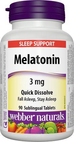 Webber Naturals® Melatonin Quick Dissolve, 3 mg