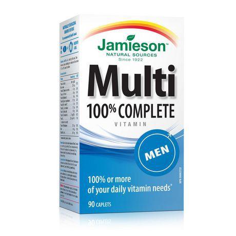 Jamieson Laboratories Jamieson Mens' 100% Complete Multivitamin Caplets