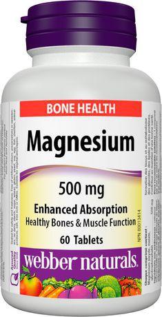 Webber Naturals® Magnesium, Enhanced  Absorption, 500 mg