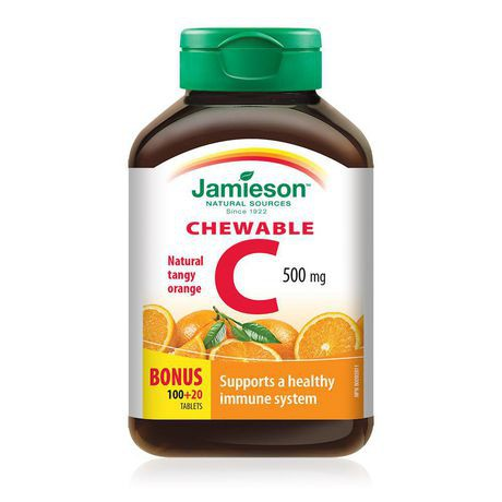 Tangy orange vitamin C chewable tablets 500 mg