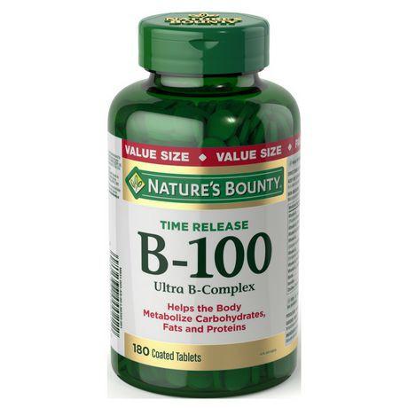 Nature's Bounty B-100 Ultra B-Complex Value Size
