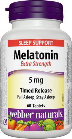 Webber Naturals® Melatonin, Extra Strength, Time Release 5 mg