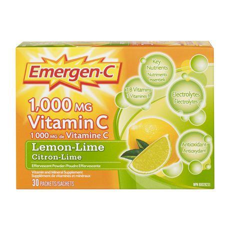 Emergen-C® Lemon-Lime 1000mg Vitamin C / Electrolytes / B Vitamins Mineral Supplement