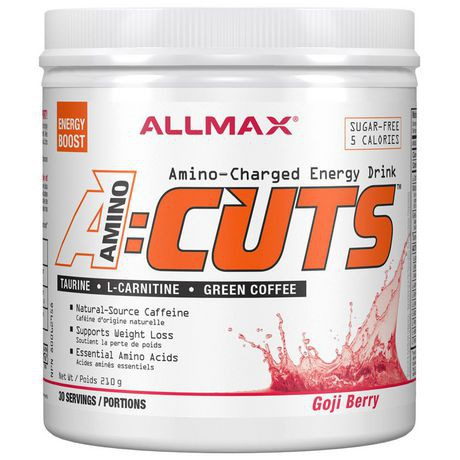 Allmax Aminocuts Gogi Berry Martini Energy Drink Supplement Powder