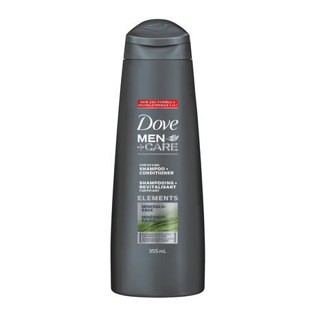 Dove MEN+CARE  Minerals + Sage Shampoo + Conditioner 355mL