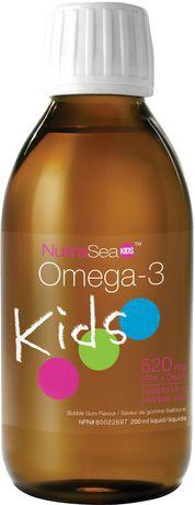 Kids omega-3 bubble gum liquid 520 mg