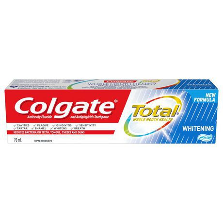 Total whitening toothpaste gel