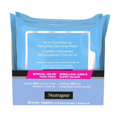 Makeup removing wipes, all-in-one