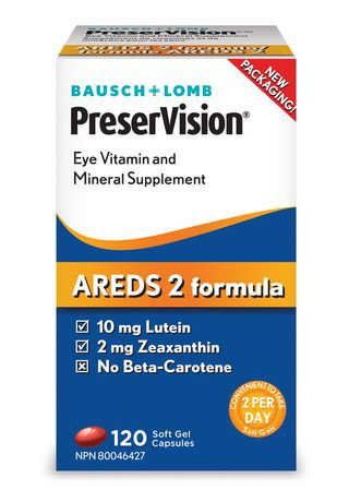 Bausch + Lomb PreserVision Eye Vitamin and Mineral Supplement Soft Gel Capsules