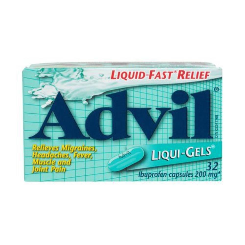 Liquid-Fast relief ibuprofen capsules 200 mg 32 units