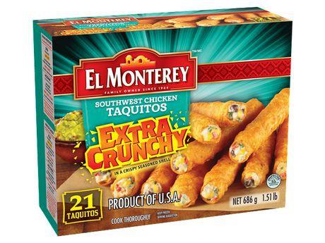 EL Monterey Extra Crunchy Southwest Chicken Taquitos