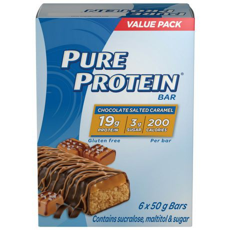Pure Protein Chocolate Salted Caramel Bars 6x50G Value Pack