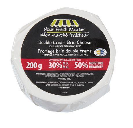 Double cream brie cheese