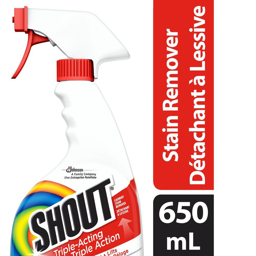 Triple-acting laundry stain remover