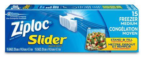 Slider freezer bags