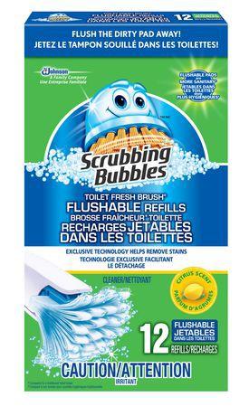 Toilet fresh brush flushable refills